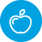 Icon of an Apple for Eating Healthy