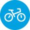 Icon of a Bike for Staying Fit