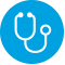 Icon of a Stethoscope for Understanding Illness